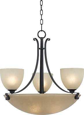 Kenroy Home Willoughby 6 Light Chandelier, Forged Graphite Finish