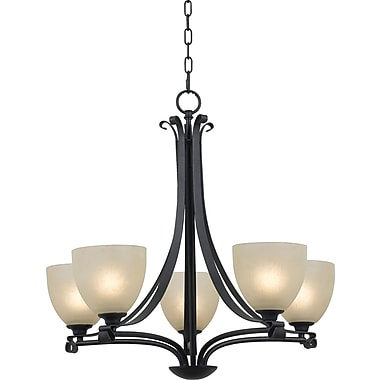 Kenroy Home Willoughby 5 Light Chandelier, Forged Graphite Finish