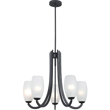 Kenroy Home Mirage 5 Light Chandelier, Forged Graphite Finish