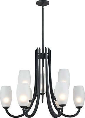Kenroy Home Mirage 9 Light Chandelier, Forged Graphite Finish
