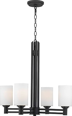 Kenroy Home Slender 4 Light Chandelier, Oil Rubbed Bronze Finish
