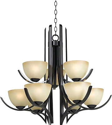 Kenroy Home Cypress 9 Light Chandelier, Oil Rubbed Bronze Finish