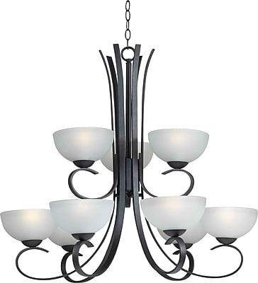 Kenroy Home Maple 9 Light Chandelier, Forged Graphite Finish