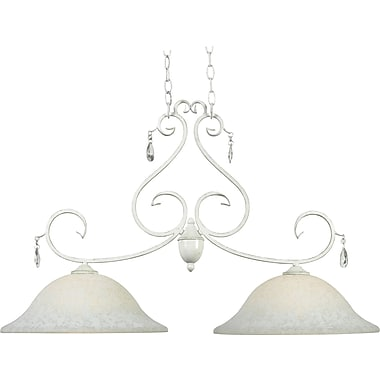 Kenroy Home Chamberlain 2 Light Island Light, Weathered White Finish