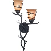 Kenroy Home Twigs 2 Light Wall Sconce, Bronze Finish