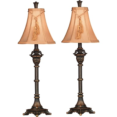 Kenroy Home Rowan Buffet Lamp, Metallic Bronze Finish