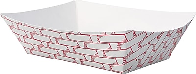 DIXIE/FORT JAMES Red Plaid Paper Food Tray 0.5 lbs.