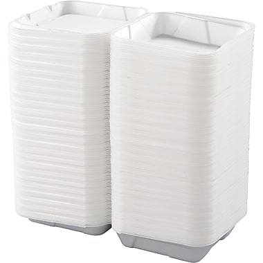 Boardwalk® 010 Carryout Container, White, Large, 200/Case