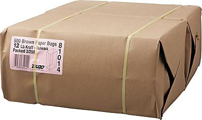 Boardwalk® Kraft Heavy Duty Paper Bag, 57 lb, 13 3/4