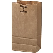 General #2 Paper Grocery, 52lb Kraft, Extra-Heavy-Duty 4 5/16x2 7/16 X7 7/8, 500 Bags
