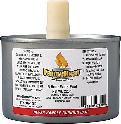 Fancy Heat® Stem Wick F700 Chafing Fuel Can, 8 oz.