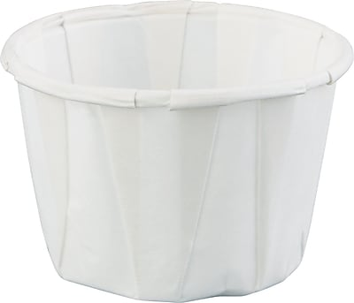 Paper Portion Cups, 1oz, White, 250/Bag, 20 Bags/Ct