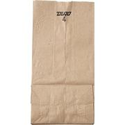 "Standard-Duty Natural Paper Bags, #4, 9 3/4""H x 5""W x 3 1/3""D, 500/Cs"