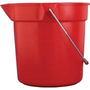 Rubbermaid Professional Plus FG2963PRRED Round Plastic Bucket, 10 qt.