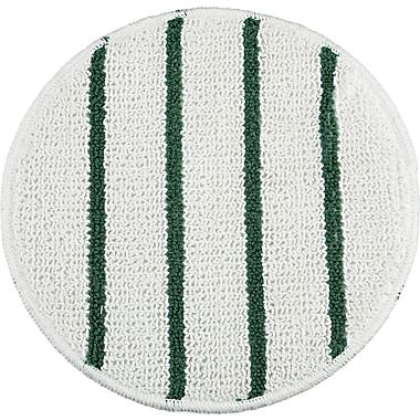 Rubbermaid ® P271 Low Profile Scrub-Strip Carpet Bonnet, White/Green