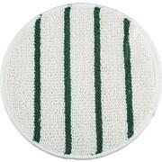 Rubbermaid® P271 Low Profile Scrub-Strip Carpet Bonnet, White/Green, 1 Each per Pack