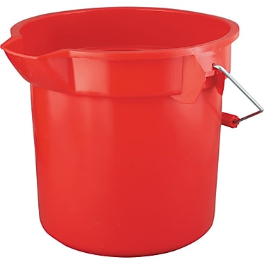 Rubbermaid® Brute® 2614 HDPE Round Bucket, Red, 14 qt.