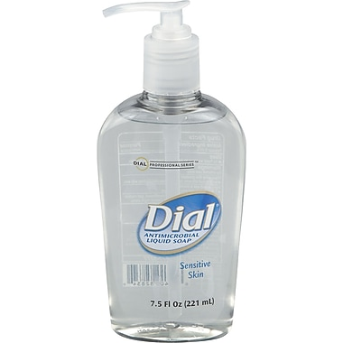 Dial® Liquid Antimicrobial Soap, 7.5 oz.