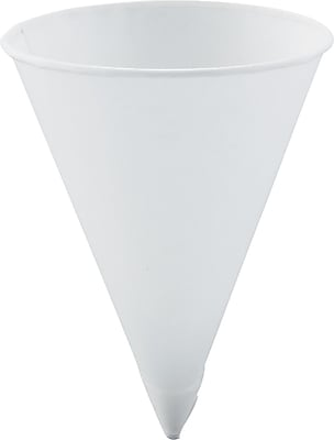 SOLO Treated Paper Cone Cup, White, 4 1/4 oz SCC42R2050