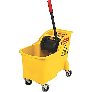 Rubbermaid® Tandem™ 7380 Bucket and Wringer Combo, Yellow, 31 qt.
