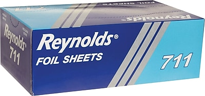 Reynolds Wrap RFP711 Pop-Up Interfolded Aluminum Foil Sheets, 9