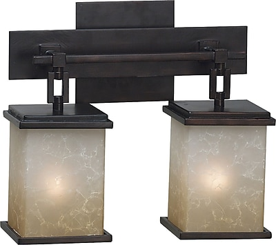 Kenroy Home Plateau 2 Light Vanity, Oil Rubbed Bronze Finish