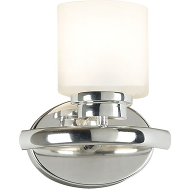 Kenroy Home Bow 1 Light Wall Sconce, Polished Nickel Finish