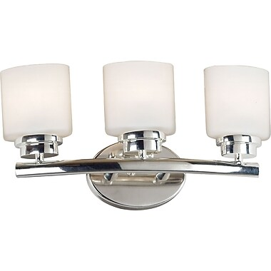 Kenroy Home Bow 3 Light Vanity, Polished Nickel Finish