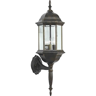 Kenroy Home Custom Fit 3 Light Wall Lantern, Golden Bronze Finish