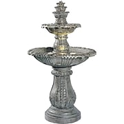 Kenroy Home Venetian Floor Fountain, Moss Finish