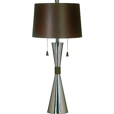Kenroy Home Bella Table Lamp, Brushed Steel Finish