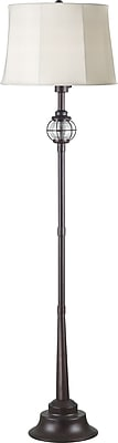 Kenroy Home Hatteras Floor Lamp, Gilded Copper with Seeded Glass Finish