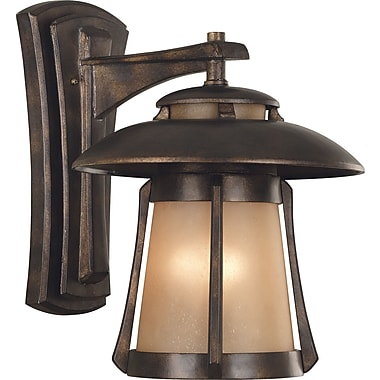 Kenroy Home Laguna Large Wall Lantern, Golden Bronze Finish