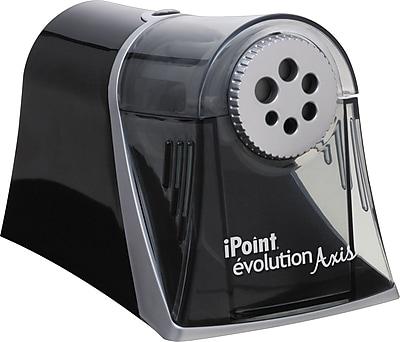 Westcott® iPoint Evolution Axis Pencil Sharpener, Black (15509)