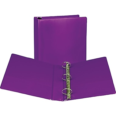 Samsill 2-Inch Round 3-Ring View Binder, Purple (U86608)