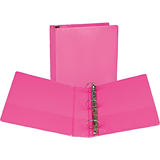 "Samsill Fashion Standard 2"" 3-Ring View Binder, Pink Berry (U86676)"