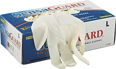 SensaGuard™ Industrial Grade Chlorinated Disposable Gloves, XL