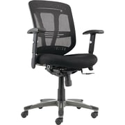 Alera ALEEN4217 Eon Fabric Mid-Back Executive Chair with Adjustable Arms, Black