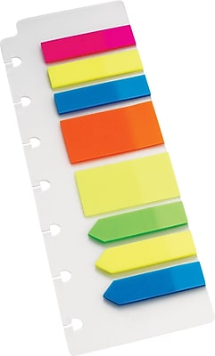 Staples® Arc System Page Flags, Assorted Colors, 2-1/2