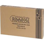 "Bagcraft Papercon® 030001 Pan Liner, 16 3/8""(W) x 24 3/8""(L), Natural"