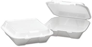 Boardwalk® 0108 Snap-It Hinged Carryout Container, White, 3