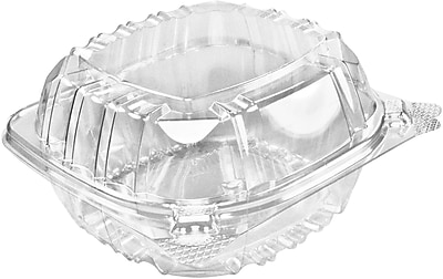Dart® ClearSeal™ C57PST1 Hinged Lid Container, Clear, 76 mm(H) x 146 mm(W) x 152 mm(D)