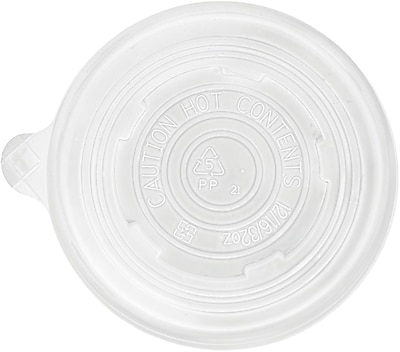 Eco-Products World Art BSCPPLID-L Vented Lid For 12/16/32 oz. Cup, White, 500/Case 150125
