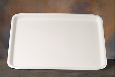 Genpak® 11418WH Supermarket Tray, White, 1/2