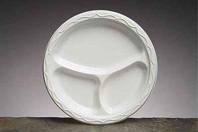 Aristocrat Plastic Plates, 10 1/4 Inches, White,