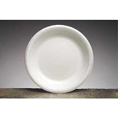 Genpak® 81000 Celebrity Foam Plate, White, 10 1/4