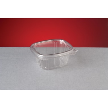 Genpak® AD06 Hinged Deli Container, Clear, 1.88