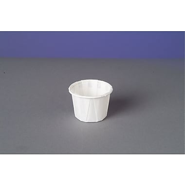 Genpak® F075 Portion Cup, White, 0.75 oz., 5000/Case