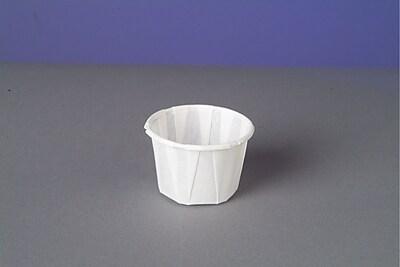 Genpak F100 Portion Cup, White, 1 oz., 5000/Case 150182