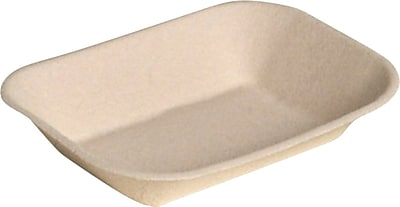 Chinet® JUST Food Tray, Beige, 7